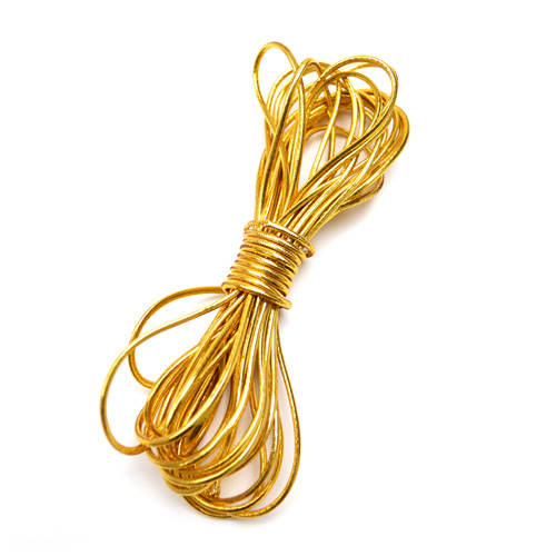 Elastic cord gold color 5m