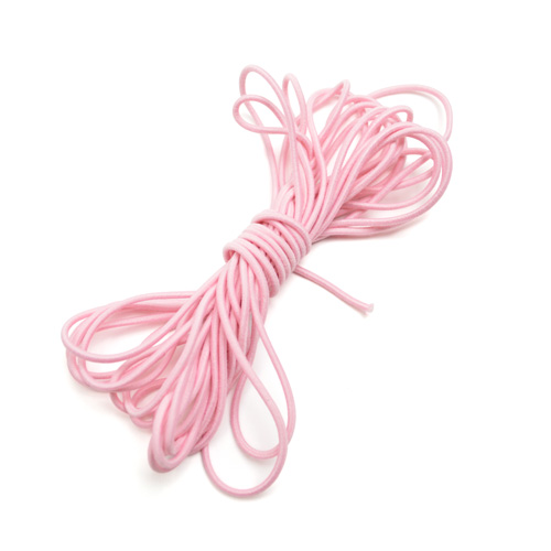 Elastic Cord light rose 5m