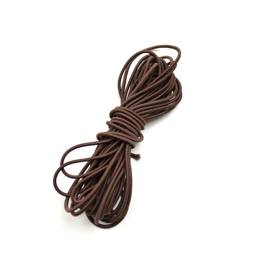 Elastic cord chocolate 5m