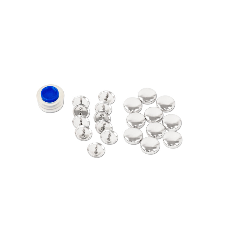 16mm (Size 24) Cover Button Kit (With Loops, Includes Tool) 10 Sets