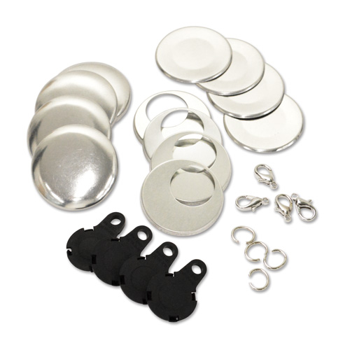 38mm (Size 36) Charm Parts Set - Black 10 Sets