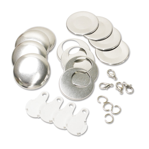 38mm (Size 36) Charm Parts Set - White 10 Sets