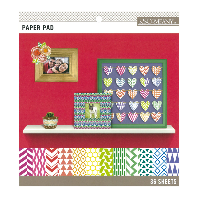 K&Company Brights Color Basics Small Paoer Pad 8.5 x 8.5inch 36sheets