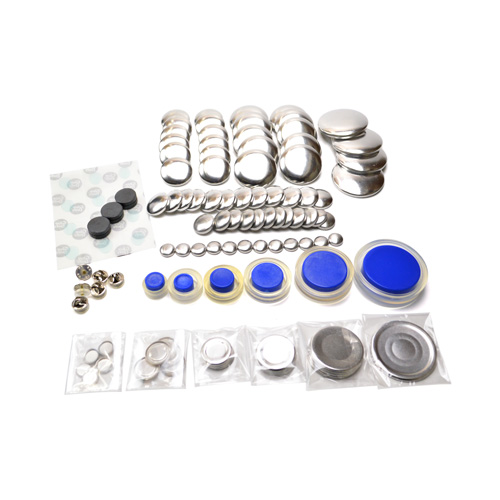 Cover Button Variety Kit (with Flat Backs)