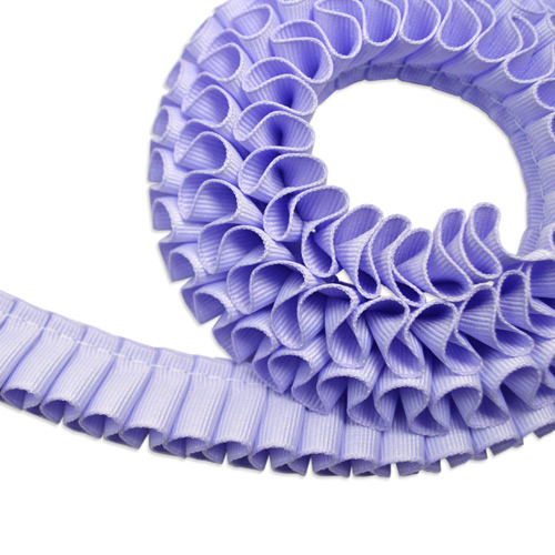 Grosgrain 20mm [Pleated] Lavender 1m