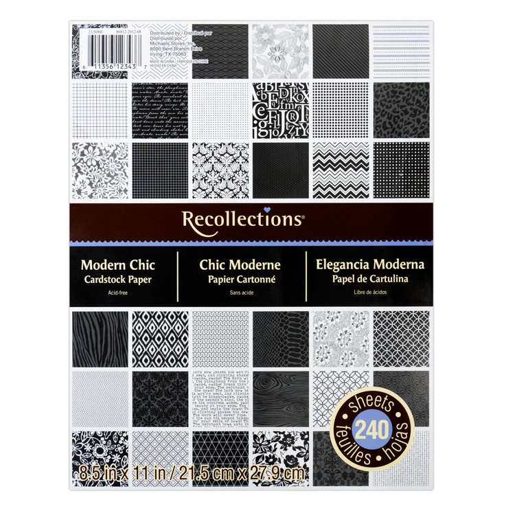 "Recollections PAPER PAD 8.5 X 11"" Modern Chic 240 sheets"