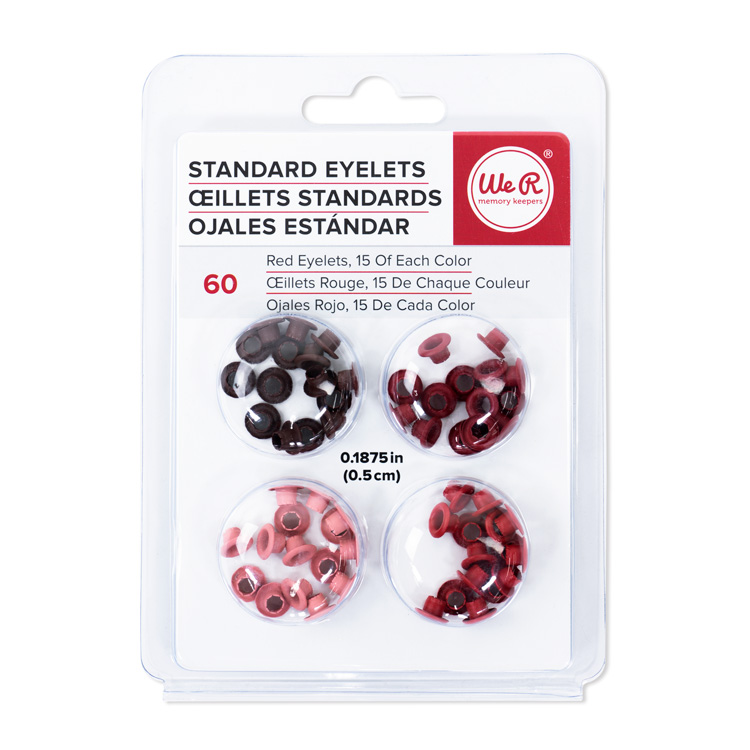 We R Memory Keepers Stamdard Size Eyelets Red