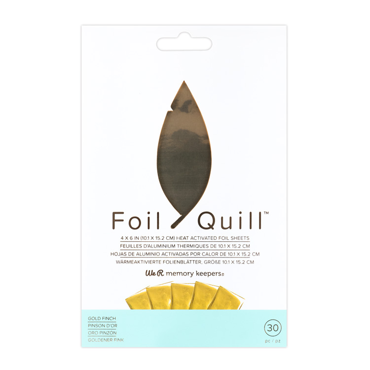 We R Memory Keepers Foil Quill ヒートアクティベイテッド ホイルシート 約101 × 152mm [ゴールドフィンチ] 30枚入