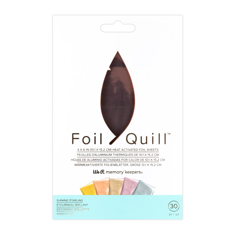 We R Memory Keepers Foil Quill ヒートアクティベイテッド ホイルシート 約101 × 152mm [シャイニングスターリング] 30枚入