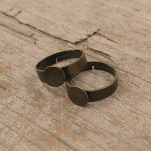 Adjustable Ring with Pad - Regular Band 10pcs